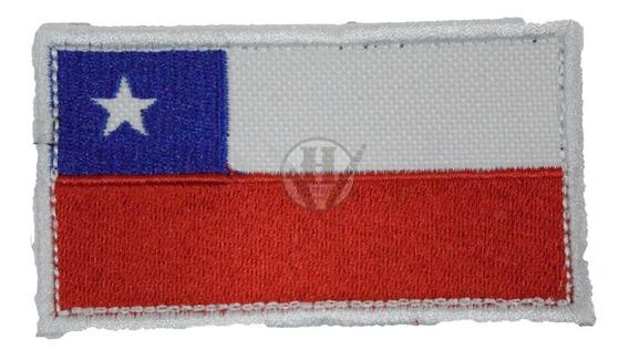 Parche Bordada Bandera Chilena Chile Abrojo