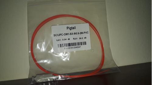Pigtail Sc/upc Mm Om1  Sx 0.9 2mts Pvc