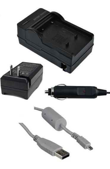 Kit Carregador Np-45 + Cabo Usb P Fujifilm Z50 Z37 Z35 Z33wp