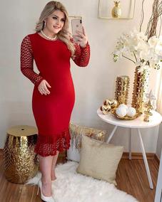Vestido Feminino Estampado Midi Moda Evangélica Promoção