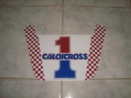 Caloi Cross Extra Light Nylon  84  Number Plate Placa Seta
