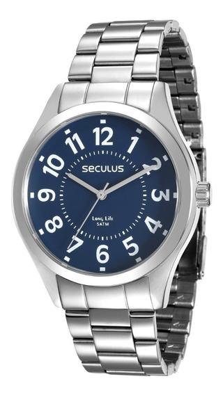 Relógio Seculus Masculino 28866gosvna1