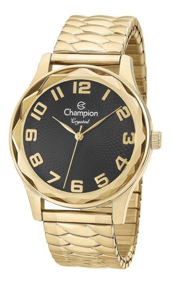 Relógio Feminino Preto/dourado Champion Analógico