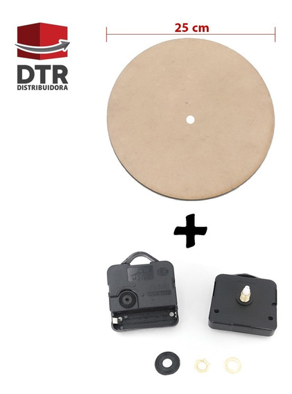 Reloj De Pared Para Armar Maquina Reloj Con Frente Rlj25-001
