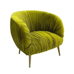Poltrona Metal Dourado C Estofado Moderno Design Impecavel