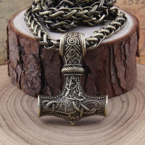 Martelo De Thor - Mjolnir - Bronze Envelhecido - Aço
