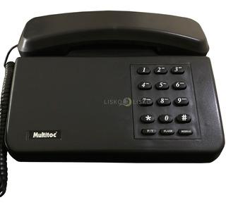 Telefone Padrão Com Fio E Chave Multitoc Preto