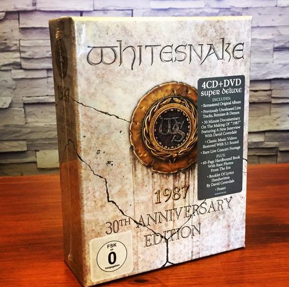 Whitesnake 1987 30th Edition Box Set 4 Cds Dvd Import