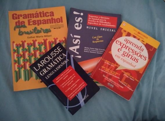Ensino De Espanhol: 4 Livros: Expressões, Gírias, Gramática