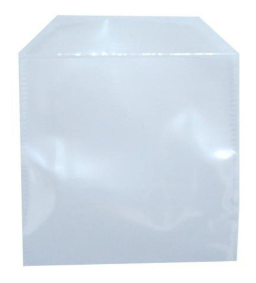 3000 Envelopes De Plástico Transparente Liso Saquinho Para Embalar Mídia Cd/dvd Saco Com Aba E Sem Cola 12,5x12,5cm