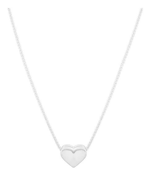 Colar De Prata Shine Heart Coleção Quatro Elementos