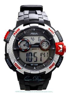 Reloj Deportivo Sumergible Alarma Cronometro Luz 50 Mts Aiwa