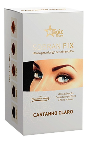 Kit 18 Henna Sobrancelhas Sobran Fix Magic Color - Escolha