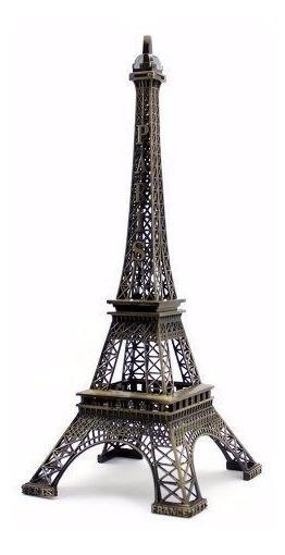 Enfeite Miniatura Torre Eiffel Metal Paris Decoração 32 Cm
