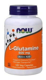Suplemento L-glutamina Now 500mg (120 Comprimidos) Sports