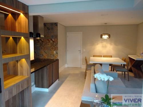 Imagem 1 de 15 de Belíssimo Apartamento 84m², 2 Quartos, 1 Suíte, 2 Vagas, Decorado E Semi Mobiliado -vila Andrade-sp - Nm4998