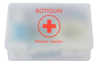 Botiquín Primeros Auxilios Pv Barbijo Jabón Guantes Alcohol