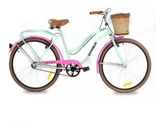 Bicicleta Enrique R26 070 Vintage Rainbow Urbana Paseo Dama