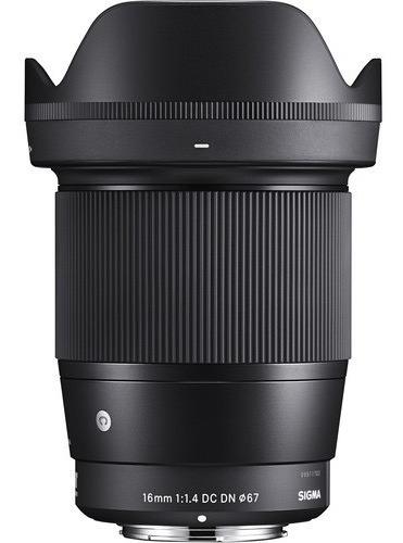 Imagem 1 de 4 de Lente Sigma 16mm F/1.4 Dc Dn P/ Sony E-mount C/ Nfe