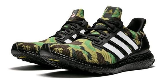 Tenis adidas Ultra Boost Bape Superbowl Verde Hype Yeezy