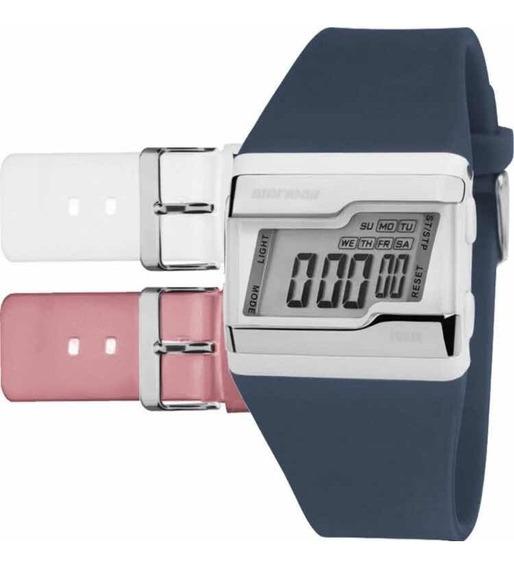 Kit (original) Relógio Mormaii Digital Com Troca Pulseiras