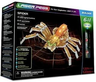 Clavijas(legos) Láser Pegs Araña 6-en-1 Juguete Construcción