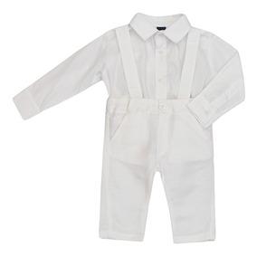 Conjunto Masculino Bebê Camisa-body E Calça Batizado