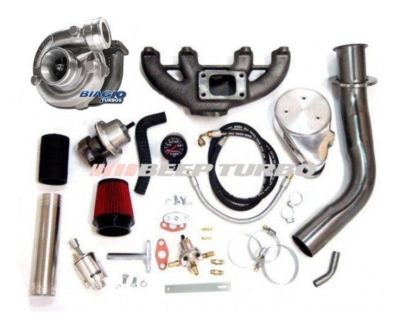 Kit Turbo Completo Vw Ap Carburado Com Turbina Biagio 50/48