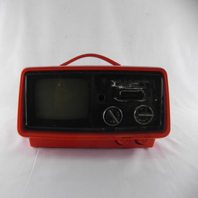 Televisão Antiga Sharp Alaranjado 3s-26 - Usado Com Defeito