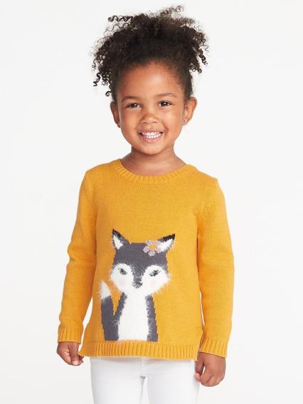 Sweater Old Navy Para Niña Talle 3 Color Amarillo