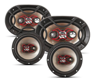 Alto Falante Bravox Facil 6 + Triaxial Quadriaxial 6x9 Kit