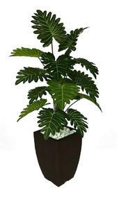 Planta Artificial Bananinha + Vaso Decorativo