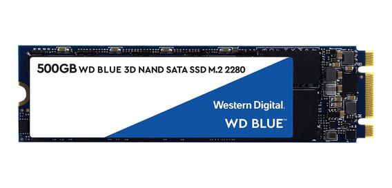 Disco sólido interno Western Digital WDS500G2B0B 500GB azul