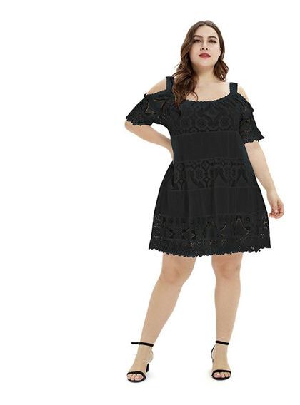 Vestidos Fiesta Oficina Negra Cortos Talles Grandes