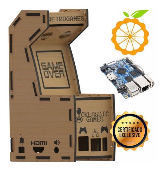 Case Orange Pi Pc Plus Mdf Mini Fliperama 10pç