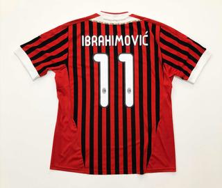 Camisa Ac Milan Home Ibrahimovic - adidas - 2011/12 - Gg