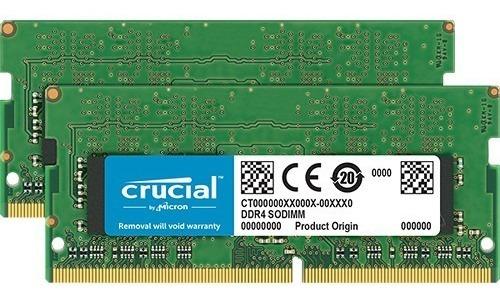 32gb Memoria Ram Crucial Sodimm Ddr4 (2 X 16gb)