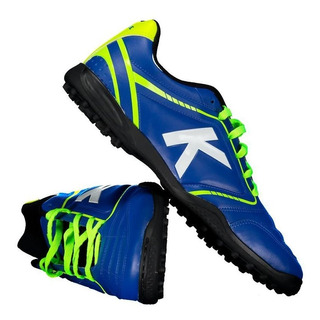 Chuteira Kelme Sprint Tf Society Azul E Verde