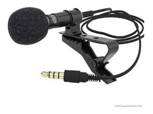 Microfone Lapela Profissional Para Celular Stereo P3