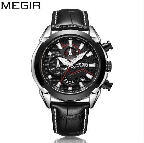 Relógio Megir 2065 Luxo Cronógrafo Lançamento Exclusivo
