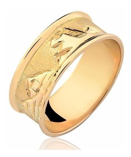 Anel Egípcio Escrava Ouro Puro 18k 0,8 Centímetros A68