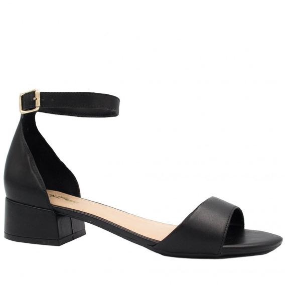 Sandália Zariff Shoes Salto Grosso Fivela 16621