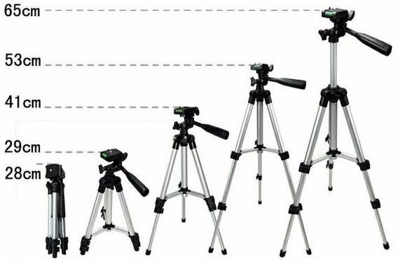 Tripé Profissional Universal Celular Câmera Telescópio E Out