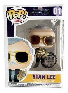 Funko Pop De Stan Lee Con Guantelete De Infinito 10 Cm
