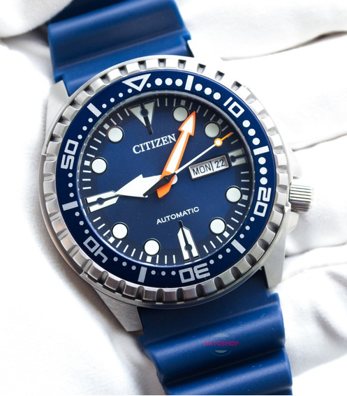 Relógio Citizen Automático Marine Sport Nh8381-12l Azul