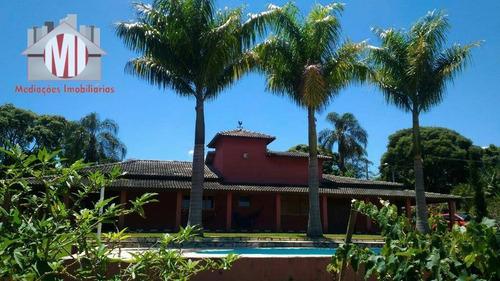 Linda Chácara Com 5 Dormitórios, Piscina, Pomar, Perto Da Cidade, À Venda, 2900 M² Por R$ 550.000 - Zona Rural - Pinhalzinho/sp - Ch0879