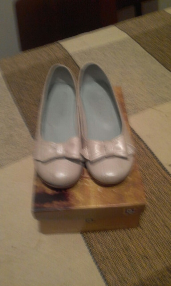 Zapatos Para Niñas Color Perla.talla 31 Marca Cobra