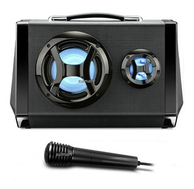 Caixa Som Bluetooth Usb Micro Sd Mp3 Rádio Fm Led Gravador