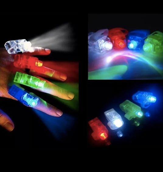Anillos Laser Led Dedos Luminoso X 20 Unidades Cotillon