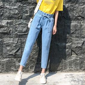Cônicos Jeans Perna Cônicos Mulheres Simple Em Linha Reta